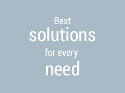Best solutions for every need